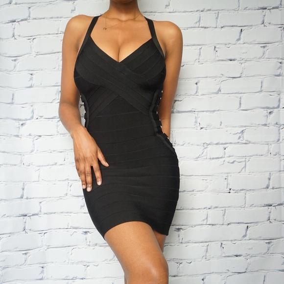 Black bandage mini dress (LBD)